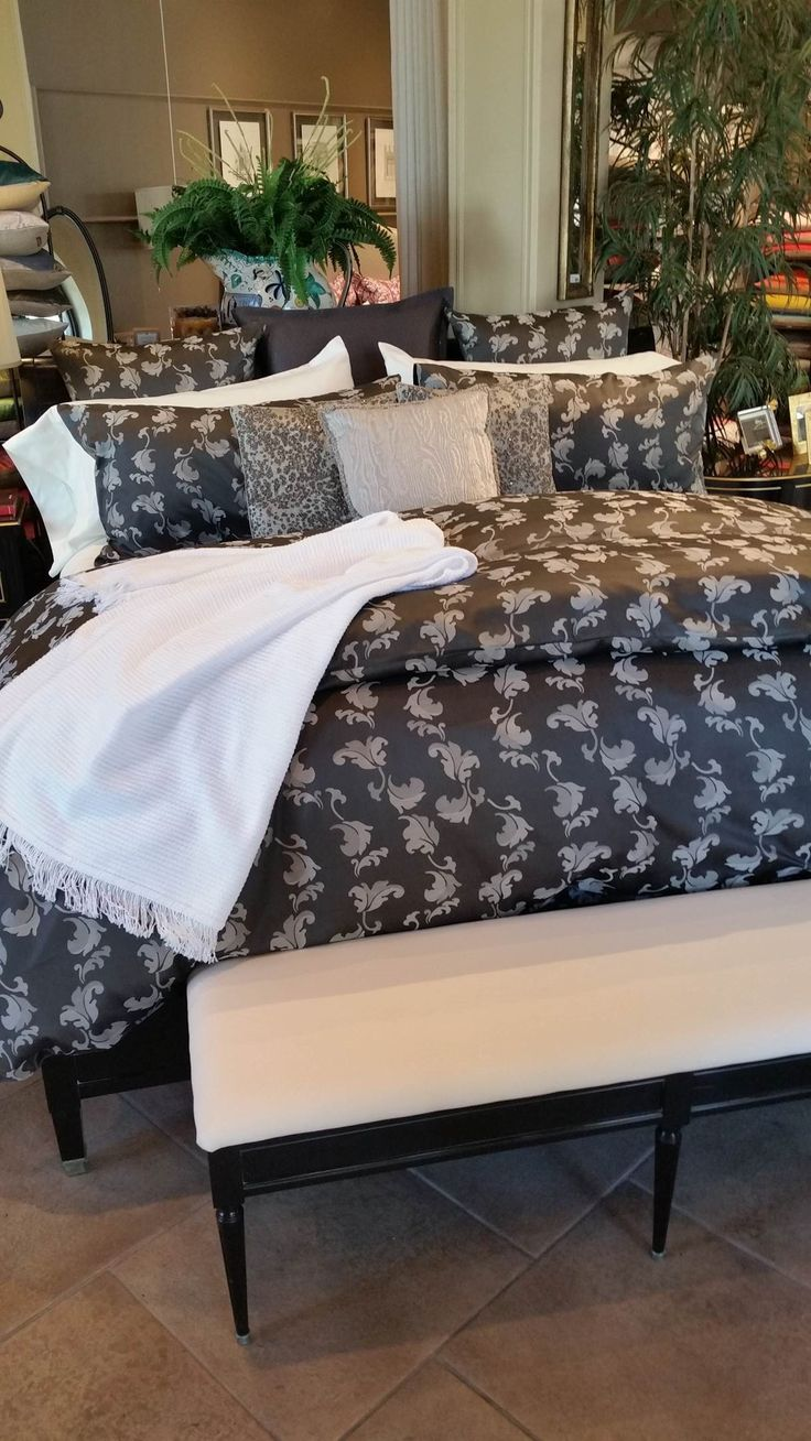 New SFERRA Sateen Jacquard for Fall 2015 beautifully styled by Scandia Down in Kansas City.