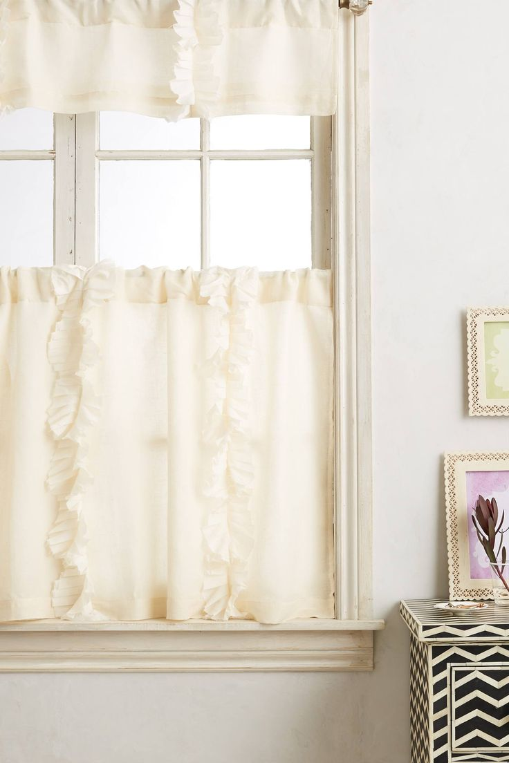 Cafe curtains for bathroom - Flutter Cafe Curtain