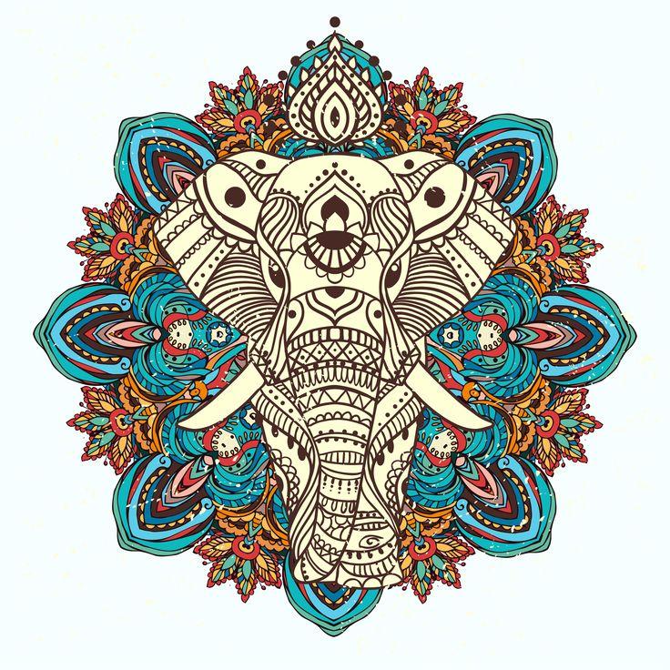 Les 25 Meilleures Idées De La Catégorie Elephant Mandala: Les 25 Meilleures Idées De La Catégorie Mandala Auto Sur