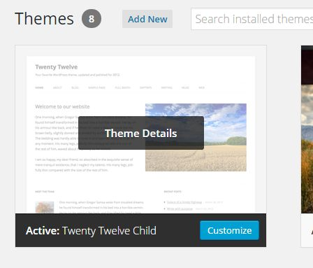 How to make a WordPress child theme in 2 minutes