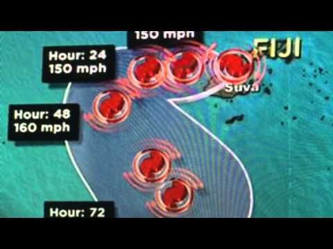 "Cyclone Winston ""Monster"" Hits Fiji"