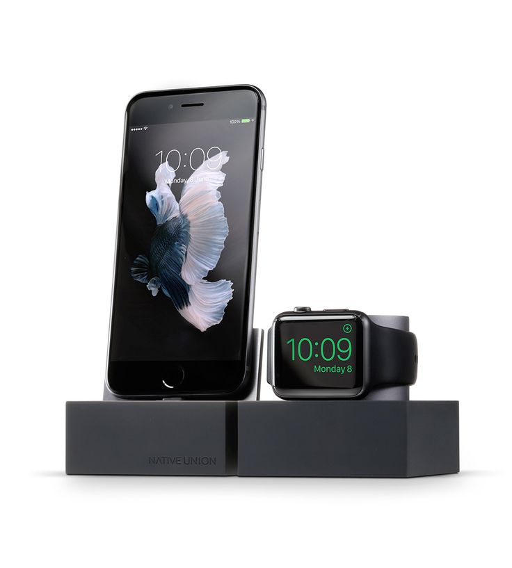Group our minimal DOCK+ Lightning and DOCK for Apple Watch together to create a larger system for charging all of your Apple devices in one place. Now they're all within an arms reach, even when recharging.