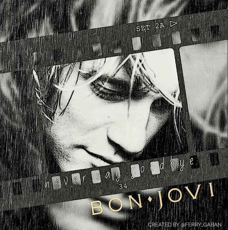 """greenlinedesign: """"""""Never Say Goodbye""""(from the Slippery When Wet album)….bonjovi 1986 🌟🌟🌟🌟#bonjovi #SlipperyWhenWet #album #neversaygoodbye #song #hardrock #heavymetal #glammetal #poprock #arenarock..."""