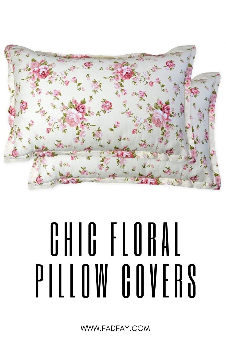 Shabby Floral Bed Pillow Cases 100 Cotton Standard Size Set Of 2 Decorative Chic Pillow Covers Decorative 20 X 27 Inch Pillow Cases Pillow Covers Chic Pillows