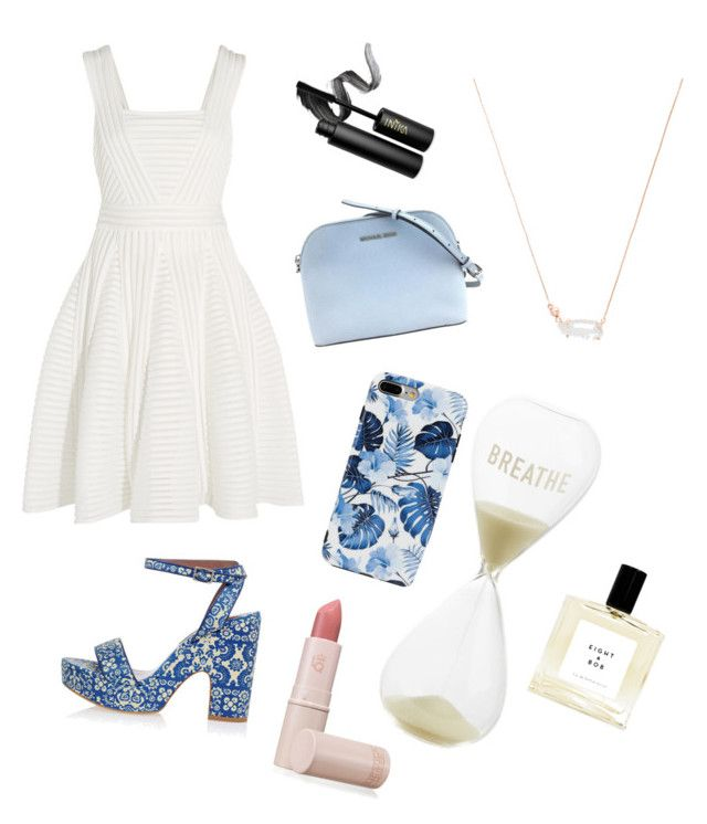 """""""Untitled #54"""" by ssimuhina on Polyvore featuring Tabitha Simmons, Maje, Kendra Scott, INIKA and Lipstick Queen"""