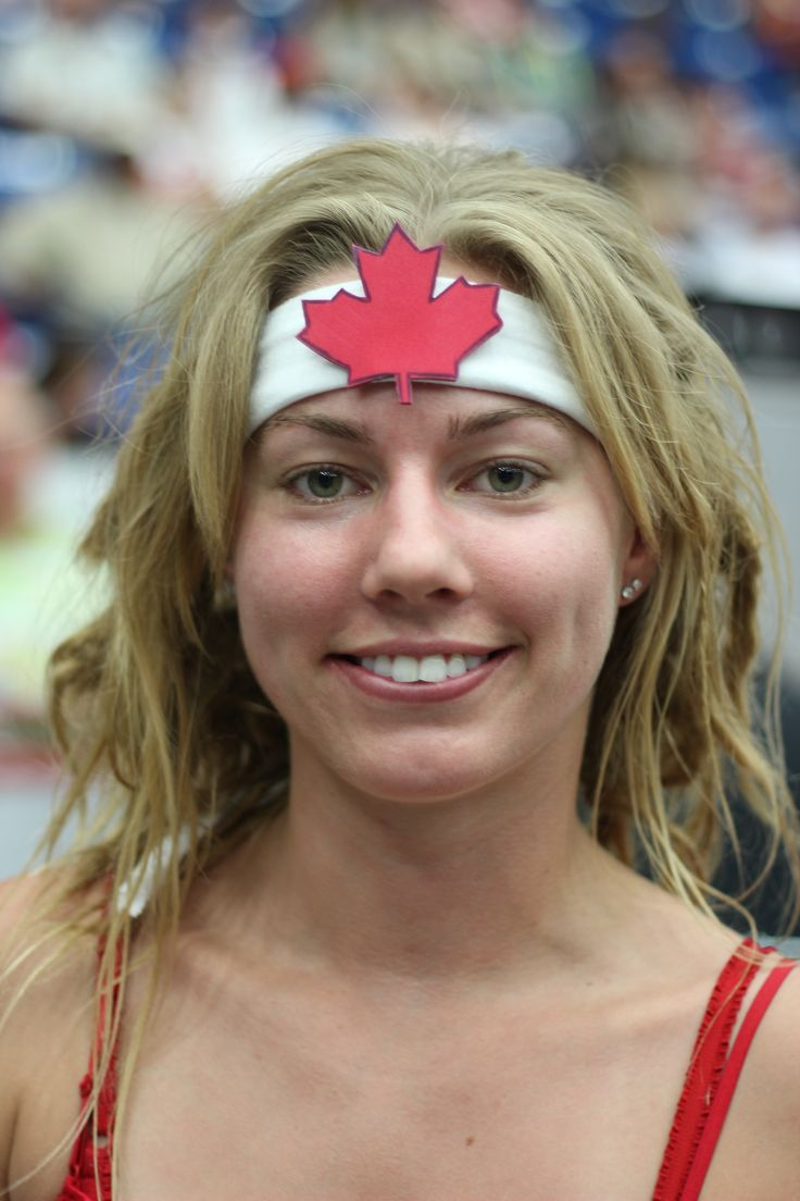 Nothing says Canada like a Maple leaf on the forehead.