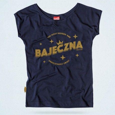 BAJECZNA - granatowy t-shirt od CHRUM - polscy projektanci / polish fashion designers - ELSKA