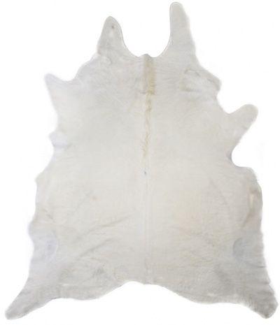 White Cow Skin Rug