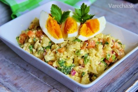 Květákový salát na způsob bramborového - Recept