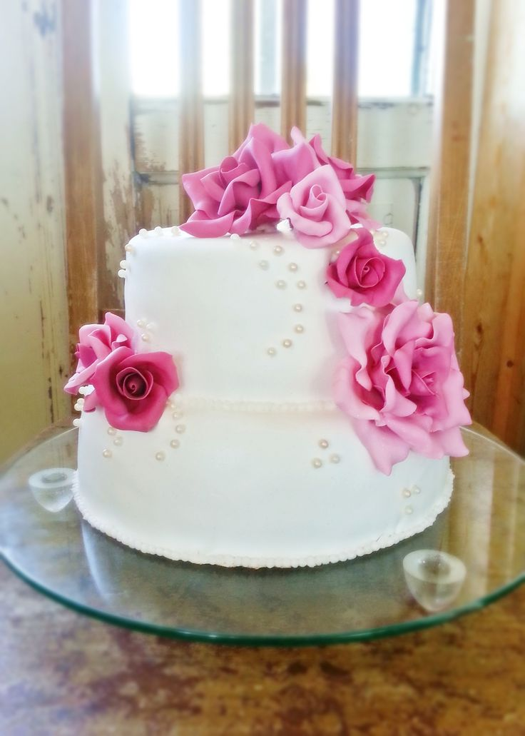 My first wedding cake <3
