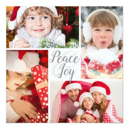 Peace and Joy to You and Yours New Year's Greeting Card - diy cyo personalize design idea new special custom