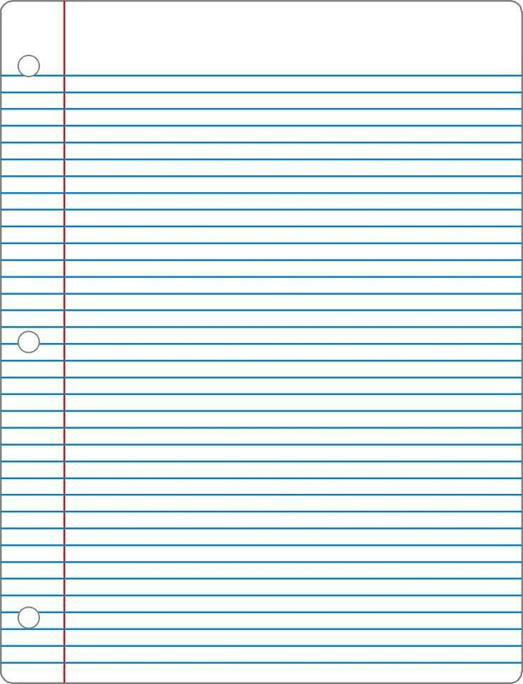 College Ruled Lined Paper - lined notebook paper template