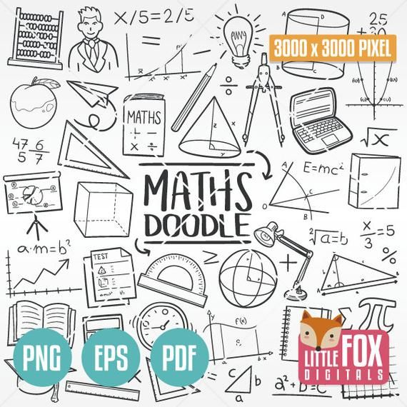 Mathematics Doodle Vector Icons Maths Subject School Learn Etsy In 2021 Line Art Design Doodle Icon Math Drawing