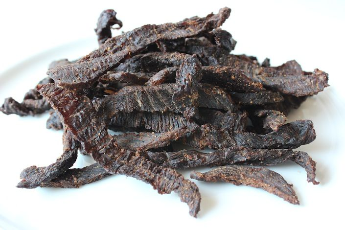 Homemade Organic Grass Fed Beef Jerky Recipe http://wholelifestylenutrition.com/recipes/appetizers-snacks/homemade-organic-grass-fed-beef-jerky-recipe/