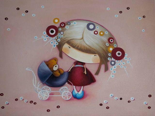 Картины для детских комнат: Розовые сны