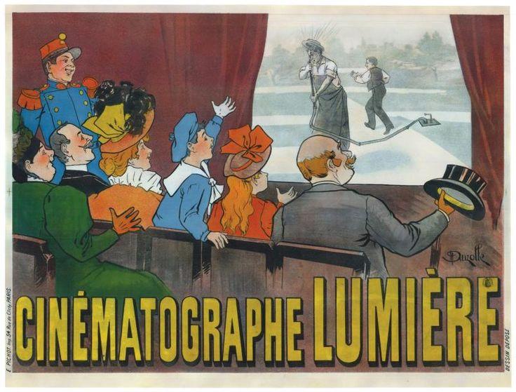 Louis #LUMIERE  #CINEMATOGRAPHE LUMIERE 1896 Entoilée en très bon état. Marge basse et bas droite refaite. France 120x160cm. Vente aux #encheres du 08/04/14 par Tessier & Sarrou