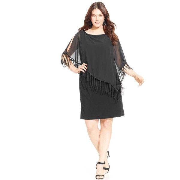 Fringe dress plus size