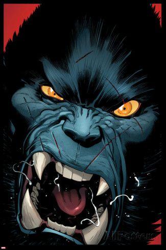 Amazing X-Men #3 Cover: Beast Poster van Ed McGuinness bij AllPosters.nl
