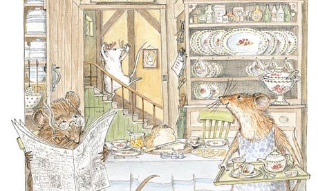 'I used memories of the thatched cottage where I grew up' ... Angelina Ballerina. (I love the original Angelina Ballerina book illustrations!)