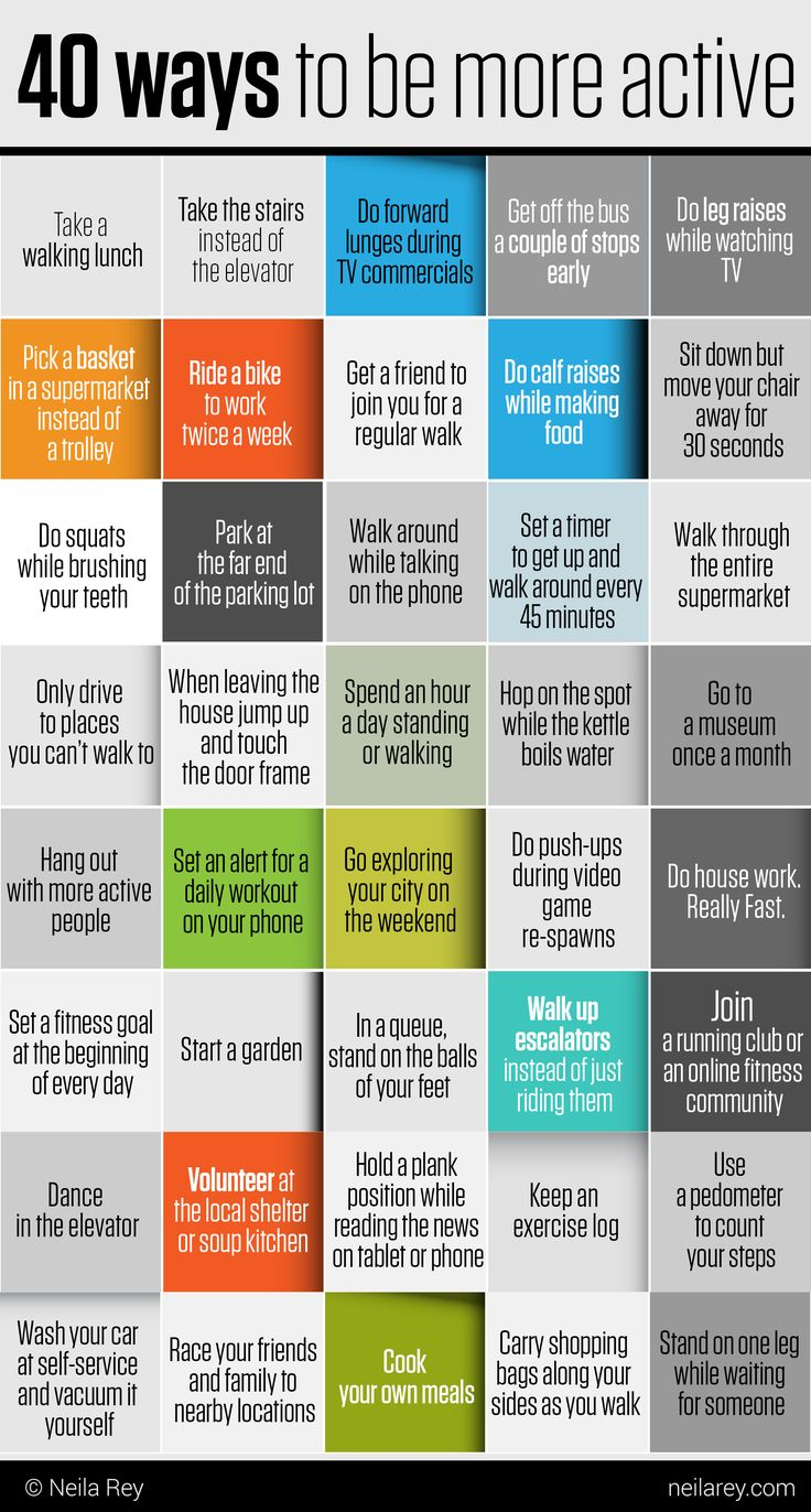 40 Ways To Be More Active