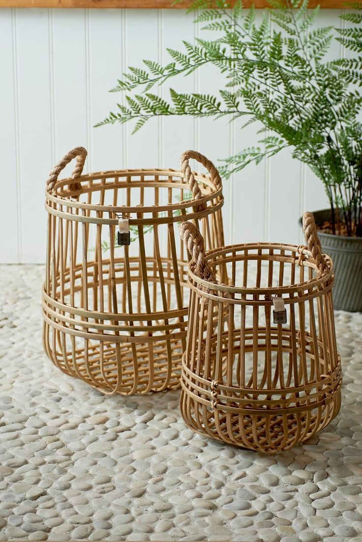 Panier En Osier Wicker : Best paniers malles en osier images on