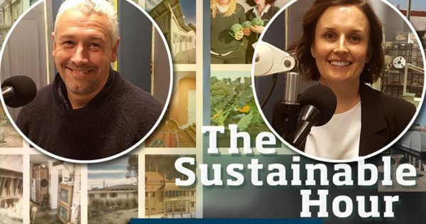 """Houses of value for environment, community and spirit  Guests in The Sustainable Hour on 27 September 2017 are: Alvyn Williams, architect and owner of Soft Loud House Architects, creating """"values-based architecture for environment, community and spirit"""", and Amy Gillett, GMHBA's Community Relations & Partnerships Manager, who explains how the company's vegetable roof top garden creates quality and value for its employees, while providing food for people in need."""