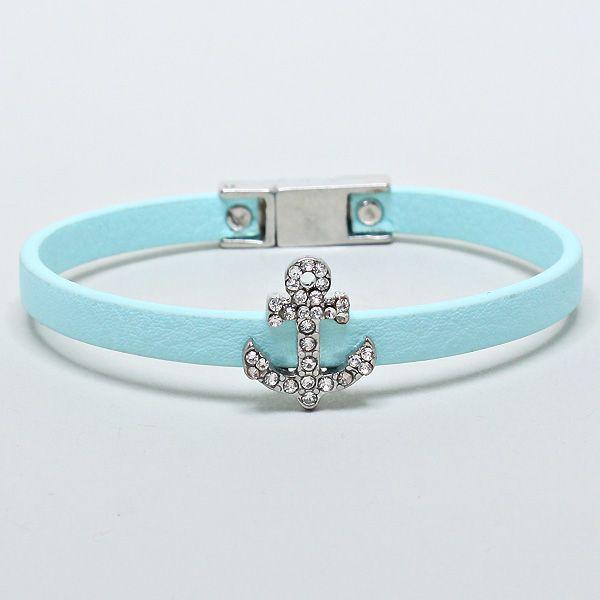 204822 / Magnetic Light Blue Anchor Bracelet