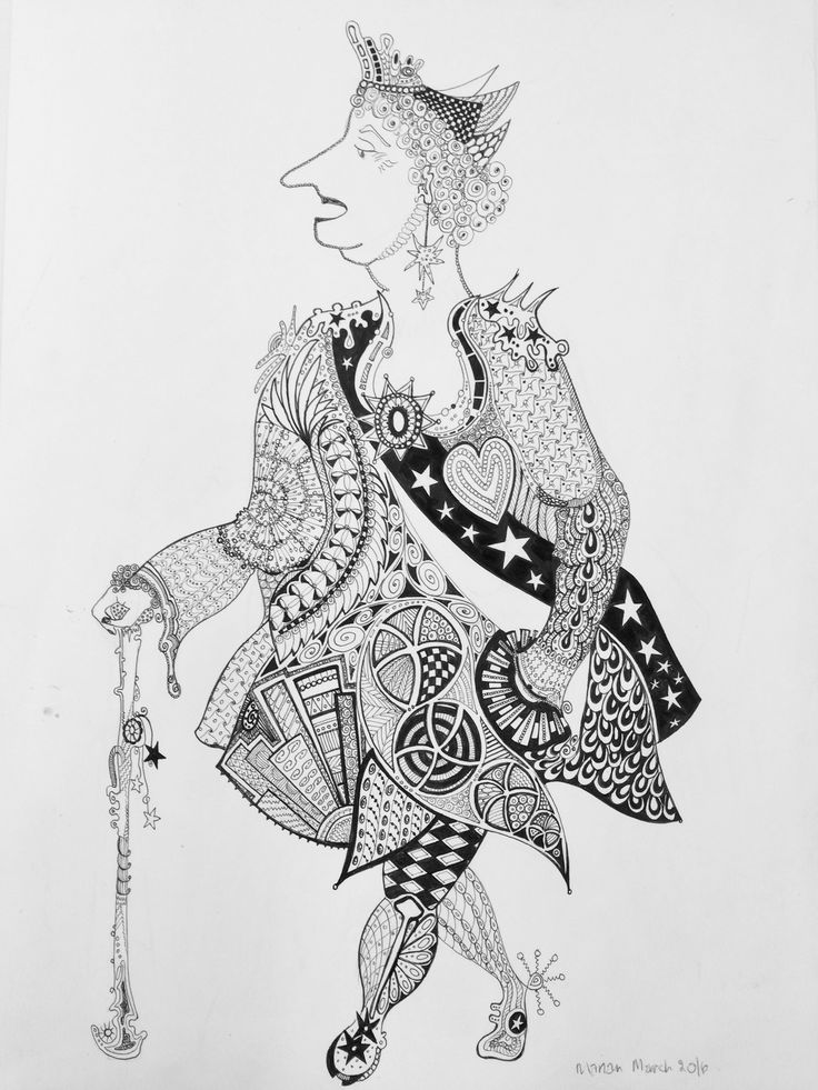 Agatha ..... Hand drawn pen and ink on cartridge paper A3