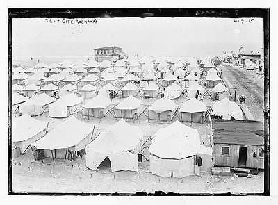 Photo Tent City beach Rockaway N.Y.