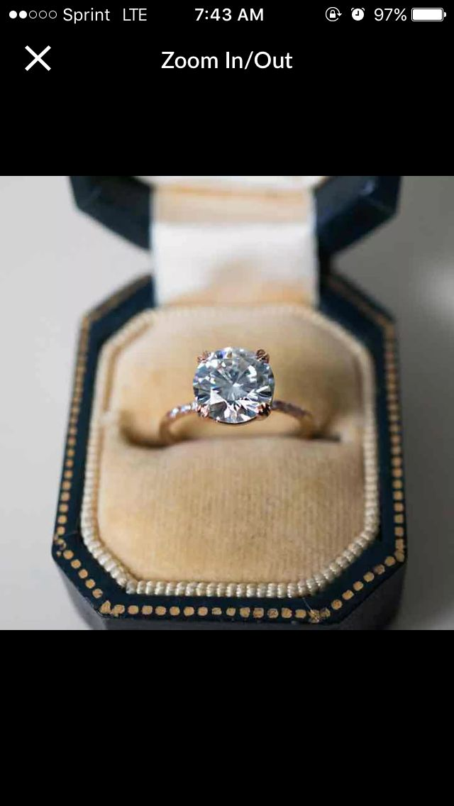 In love with this!  2 Karat Princess Cut Diamond Engagement Ring