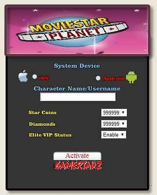 2014 Online MovieStarPlanet Hack Unlimited StarCoins Diamonds VIP | eBay