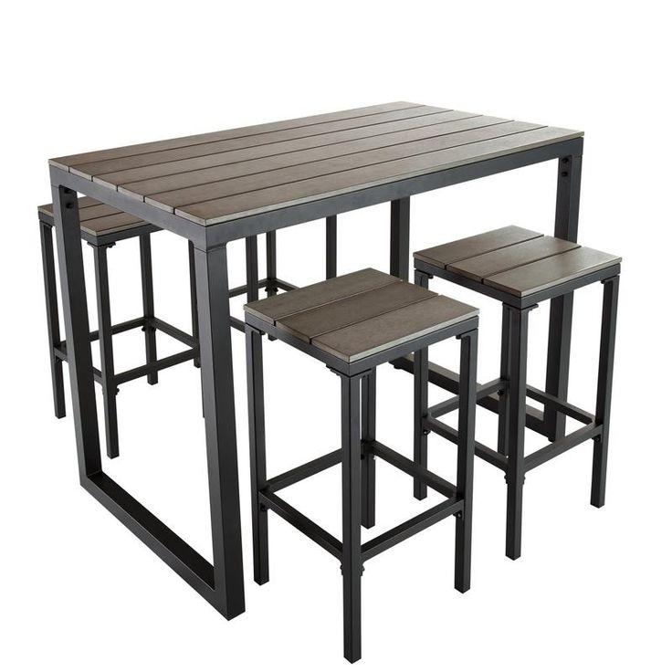 1000 images about table haute metal bois industrielle sur pinterest vintage loft et tables. Black Bedroom Furniture Sets. Home Design Ideas