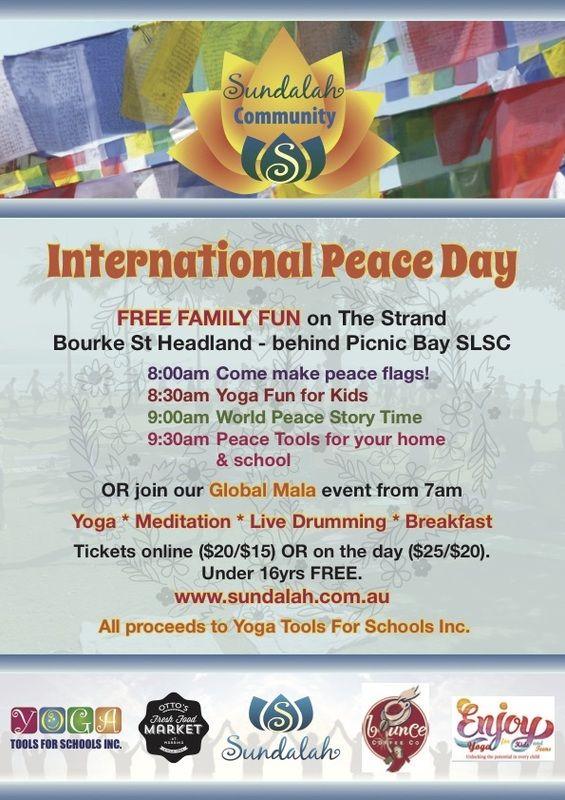 International Peace Day celebrations with Sundalah