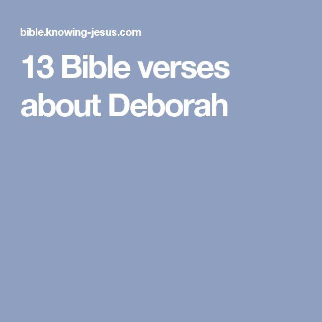 13 Bible verses about Deborah