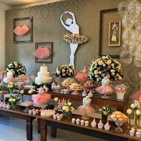 Mesa do bolo #decoracaobailarina #party #festabailarina #festademenina