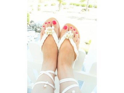 Lace up Pearl Sandals