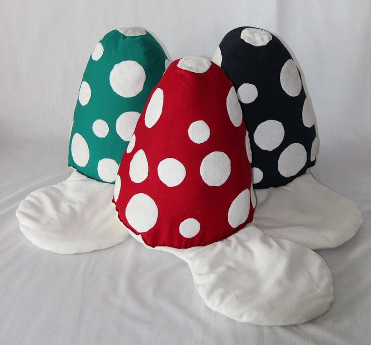 Toadstool Floor Cushion for Children in Red with Cream Spot (unfilled). $40.00, via Etsy.