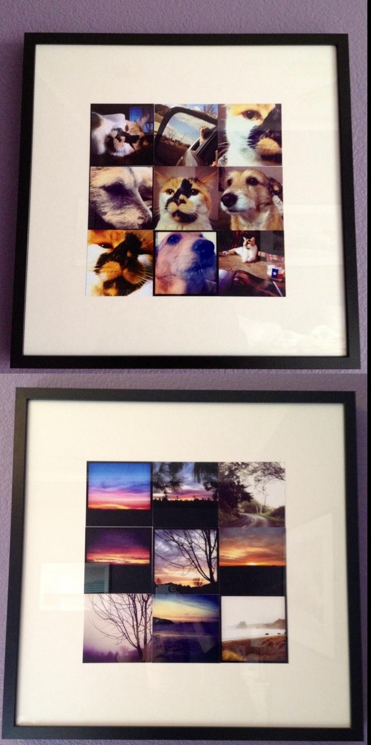Ikea ribba frame instagram 4x4 prints use a 12x12 for 5x5 frames ikea