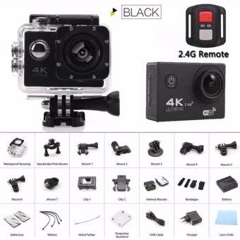 """รีบเป็นเจ้าของ  Newest gopro hero 4 style Action camera F60R Ultra HD 4K WiFiUnderwater 30M Sports Camera 2.0"""" LCD 1080p 60fps Camera - intl  ราคาเพียง  1,100 บาท  เท่านั้น คุณสมบัติ มีดังนี้ 4K 30fps, 2.7K 30fps, 1080P60fps, 1080P 30fps, 720P 120fps, 720P 60fps, 720P 30fps High Resolution SONY 179CMOS Sensor Video Time-LapsedSupported Slow Motion VideoSupported Ultra Wide Angle 170° Lens(F2.8 / f=2.99mm) 2 inches LCD Screen(960*240) 30 meter Depth IP68Waterproof Case to capture video under…"""