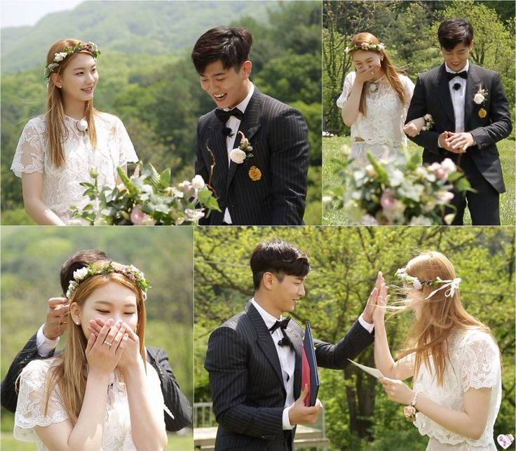 Kim Jin Kyung and Mad Town's Jota have a beautiful outdoor wedding on 'We Got Married' | http://www.allkpop.com/article/2016/05/kim-jin-kyung-and-mad-towns-jota-have-a-beautiful-outdoor-wedding-on-we-got-married