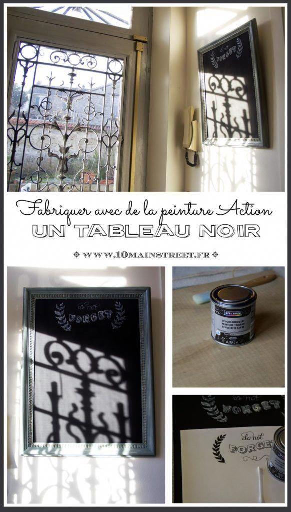 Fabriquer Un Tableau Noir Avec La Peinture Action Chalkboard