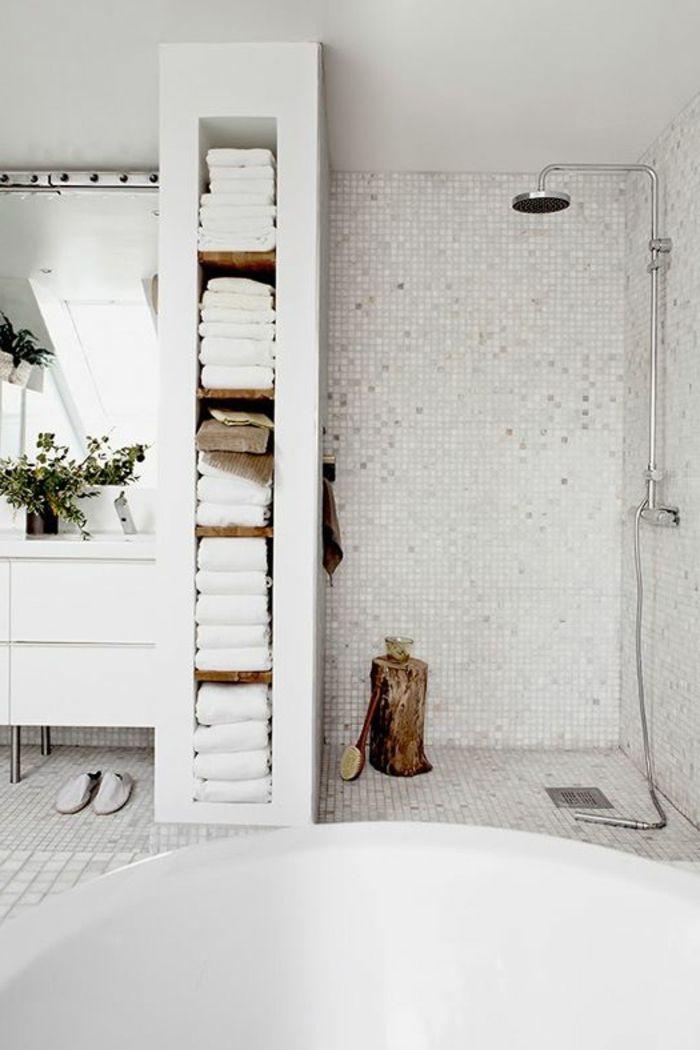salle de bain avec mosaique blanc salle de bain rtro ancienne de style