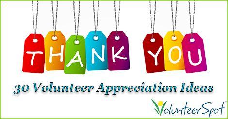 Volunteer Appreciation and Gift Ideas