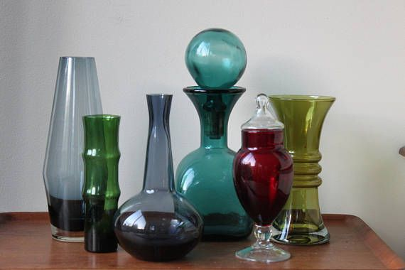 Instant Collection of Mid Century Modern Colored Glass Vase