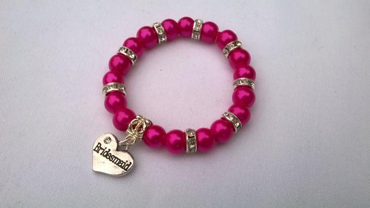 bridesmaid bracelet, flower girl bracelet, wedding jewellery, wedding present, maid of honor bracelet, thank you gift, thank you bracelet - pinned by pin4etsy.com