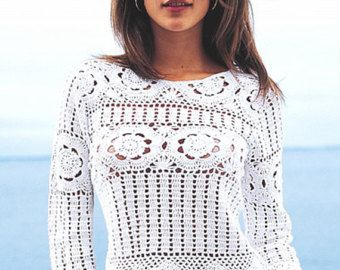 Crochet top PATTERN detailed instructions in by FavoritePATTERNs