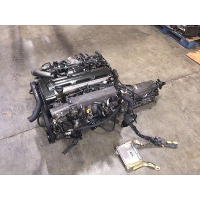 Jdm 2JZ-GTE non VVTI Twin Turbo engine & automatic transmission.
