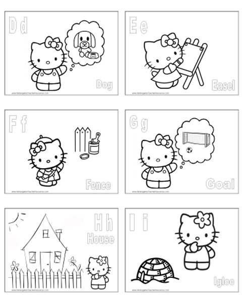 Hello Kitty Abc Coloring Pages : Best abc coloring pages images on pinterest