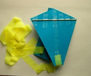 This easy paper kite was a hit! What changes can you make so it will fly higher or faster?
