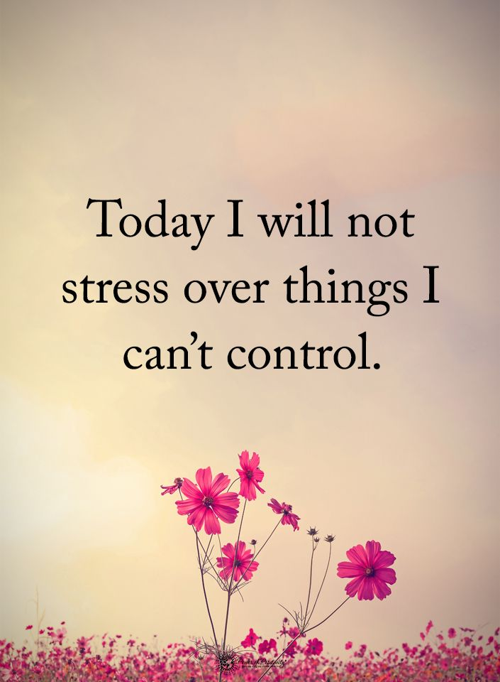 Today I will not stress over thins I can't control. #powerofpositivity #positivewords #positivethinking #inspirationalquote #motivationalquotes #quotes #life #love #hope #faith #respect #stress #things #control